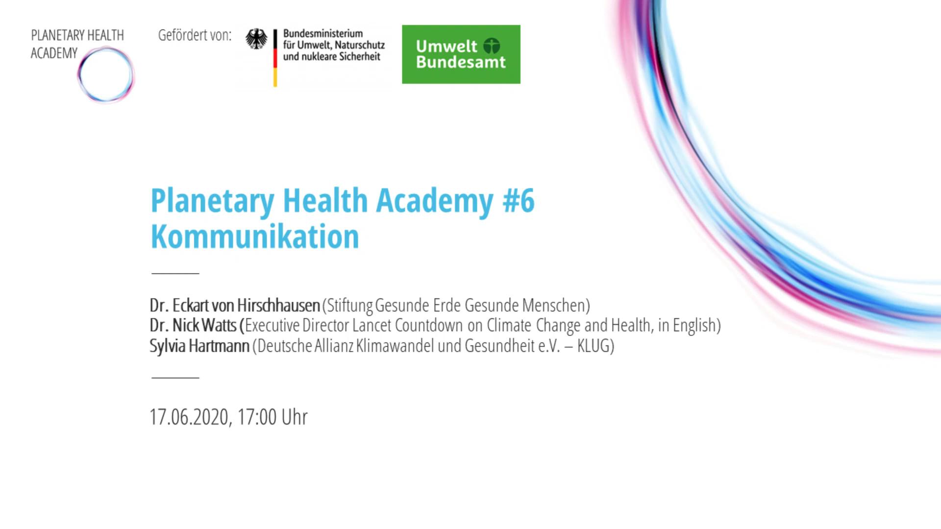 Planetary Health Academy von KLUG
