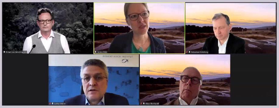 """Das Panel """"Klimawandel und Gesundheit – welche Verantwortung haben Ärztinnen und Ärzte?"""" beim DGIM-Kongress"""